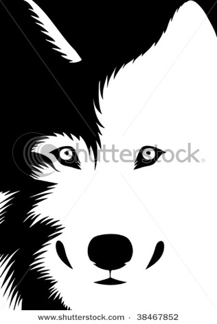 White Wolf clipart wolf head Wolf of art vector a