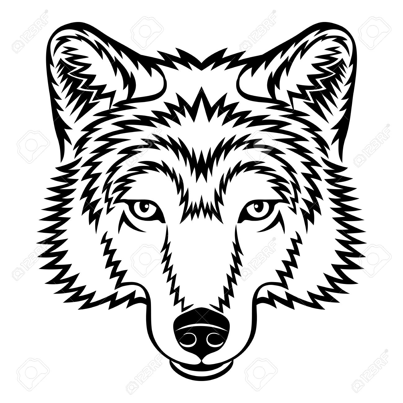 White Wolf clipart wolf head Wolf White And Clipart Wolf