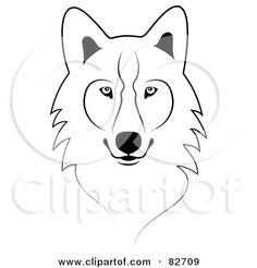 Simple clipart wolf Black Vector Black illustration timberwolf