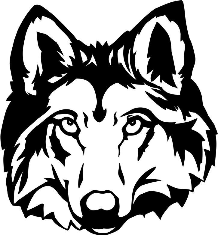 White Wolf clipart wolf face Wolf Art Art Clip art