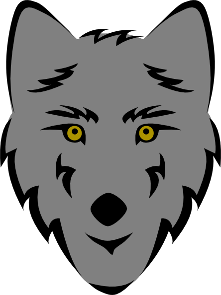 Simple clipart wolf Vector at clip Download art