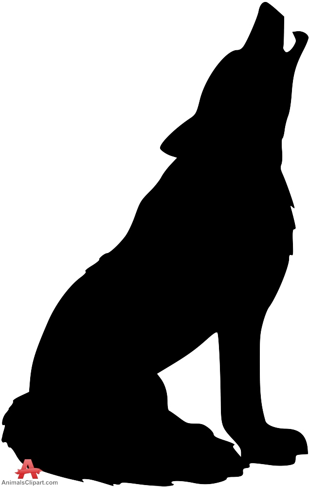 Drawn howling wolf silhouette Clipart the werewolf Wolf keywords
