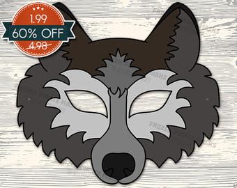 Wolf clipart wolf mask Grey wolf wolf costume mask
