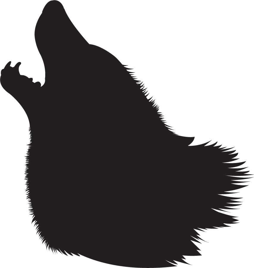 White Wolf clipart wolf face  silhouette Search wolf clouds
