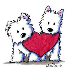 West Highland White Terrier clipart ❤ Pouting valentine's Niles Kim