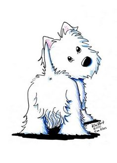 West Highland White Terrier clipart Terriers Kim Fluffy and Cartoon