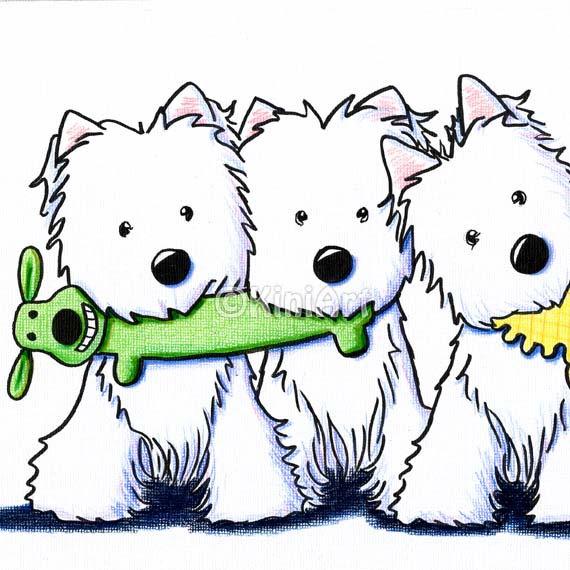 West Highland White Terrier clipart Illustration TERRIER Dogs  Art