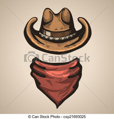 Vector illustration Cowboy  of