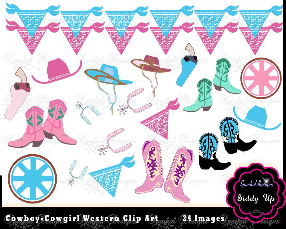 Bunting clipart cowboy Clip Western Bandana Pink Banner