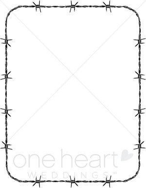 Barbed Wire clipart border Western Fancy Barbed wire clipart