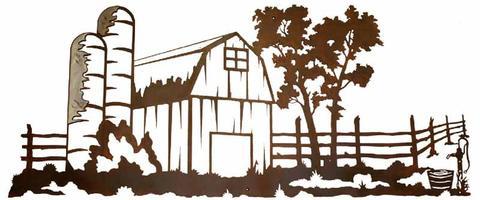 Western clipart barn Yard by Rustic Rustic Metal