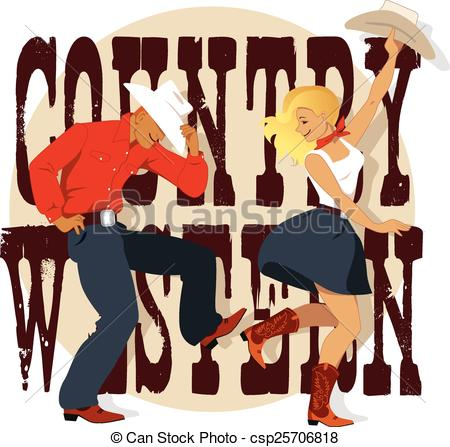 Western clipart barn Man art a dancing in