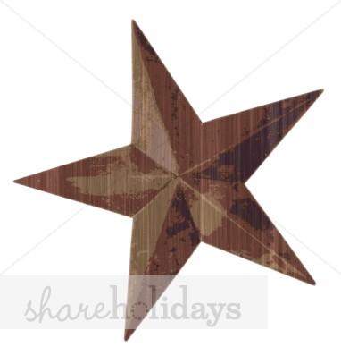 Western clipart barn Star Star Clipart Rusted Clipart