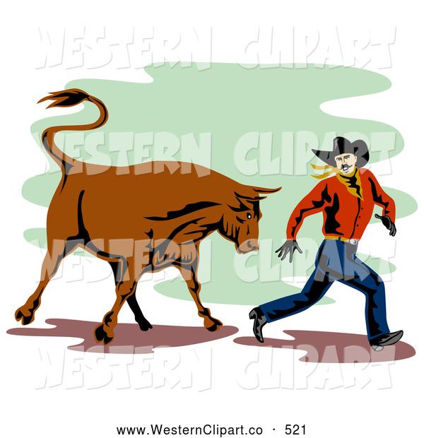 Western clipart bull #10