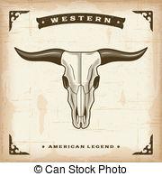 Western clipart bull Art Skull Clipart Bull skull