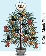 Western clipart christmas tree Cowboy Christmas christmas Tree Clip