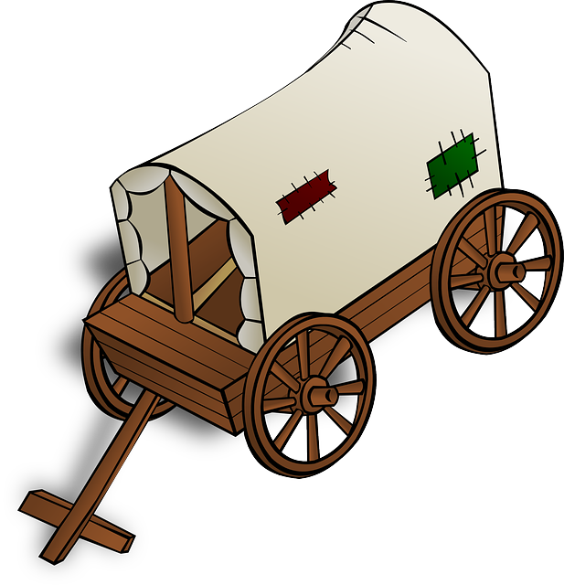 Western clipart covered wagon #13