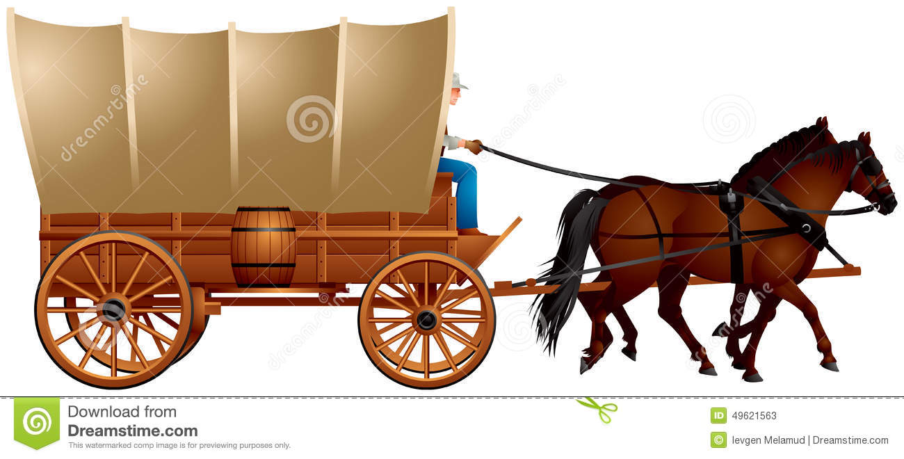 Western clipart covered wagon #3