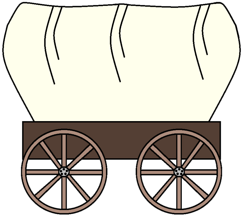 Western clipart covered wagon #4