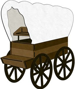 Western clipart covered wagon #8