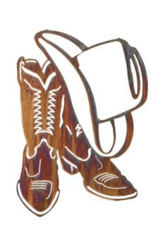 Wild West clipart cowboy boot Art and  hat boots