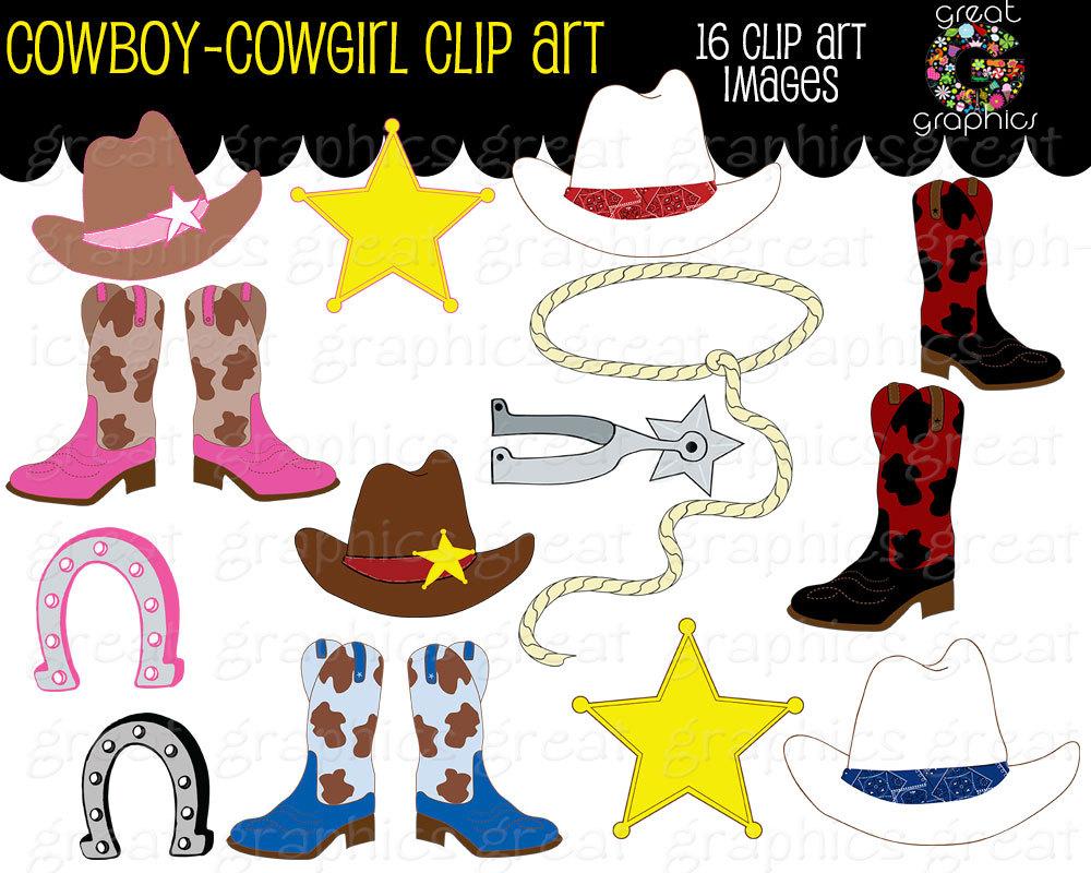 Cowboy clipart western theme Boots Clipart Cowboy Art Instant