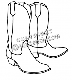 Drawn boots cowboyboot Western boot Clip outline Western