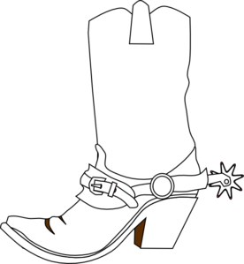 Drawn boots cowboy Royalty art online free vector