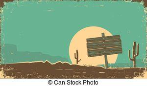 Wild West clipart landscape #6