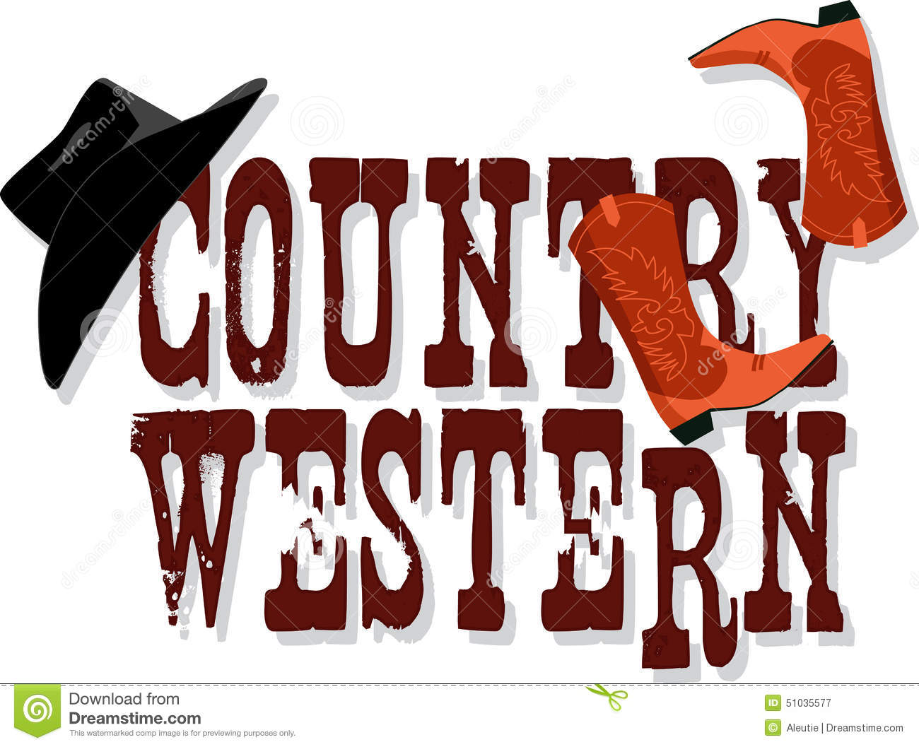 Western clipart hoedown Clipart 40 Stock collection Illustrations