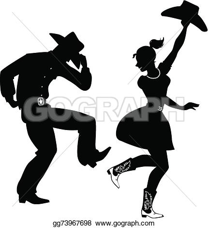 Cowboy clipart country dancing Country dance Hoedown Country of
