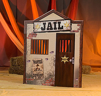 Western clipart jail West  looking Jail features