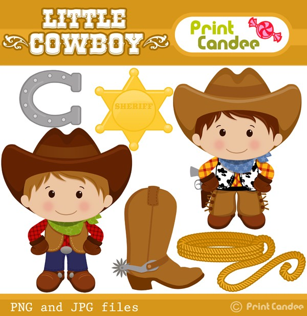 Western clipart kid Clip Little Cowboy Clip And