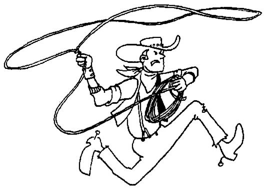 Wild West clipart black and white #8