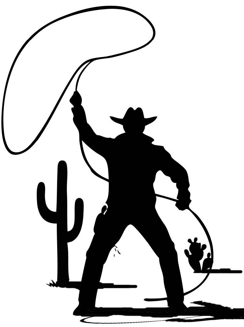 Western clipart lasso Clipart The Lasso Cowboy With