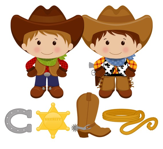 Western clipart little cowboy Scrapbooking Commercial Cowboy boot art
