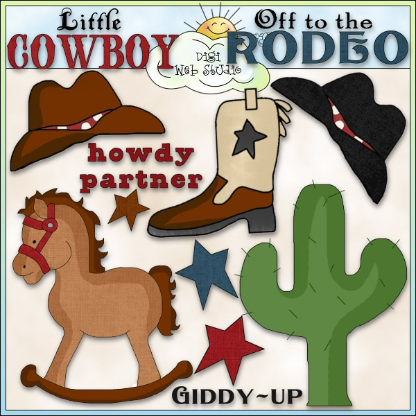 Western clipart little cowboy Digi Art Art Clip on