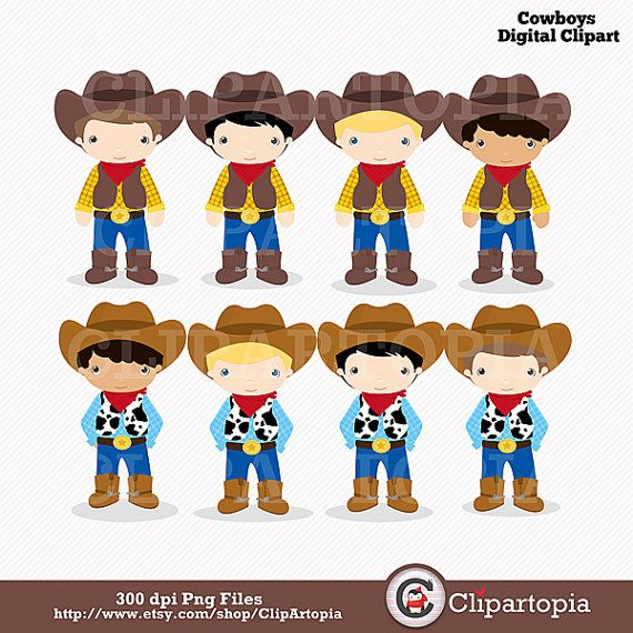 Western clipart little cowboy Wild art Download for images
