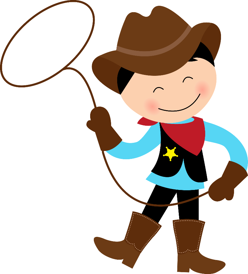 Western clipart little cowboy Personal Clip Use Cowgirl Little