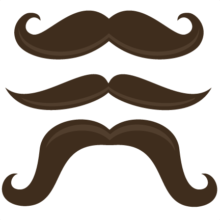 Background clipart mustache #3