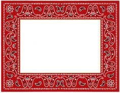 Handkerchief clipart western Western images art frame free