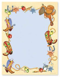 Cowgirl clipart border Clip printable Western free for