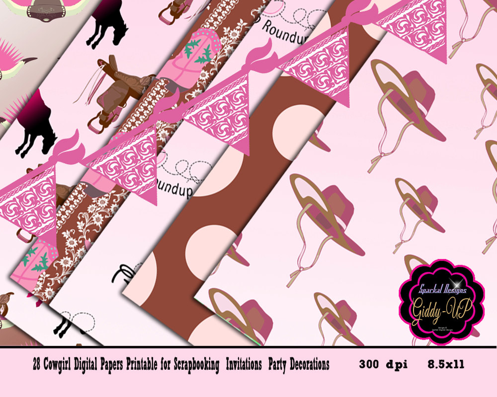 Western clipart pink Themed DIGITAL digital This Cowgirl