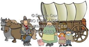 Wild West clipart pioneer wagon #10