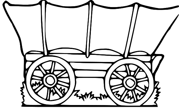 Cart clipart pioneer handcart Collection Covered A wagon covered