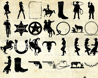 Wild West clipart rodeo Clipart Total Horse Silhouettes Western