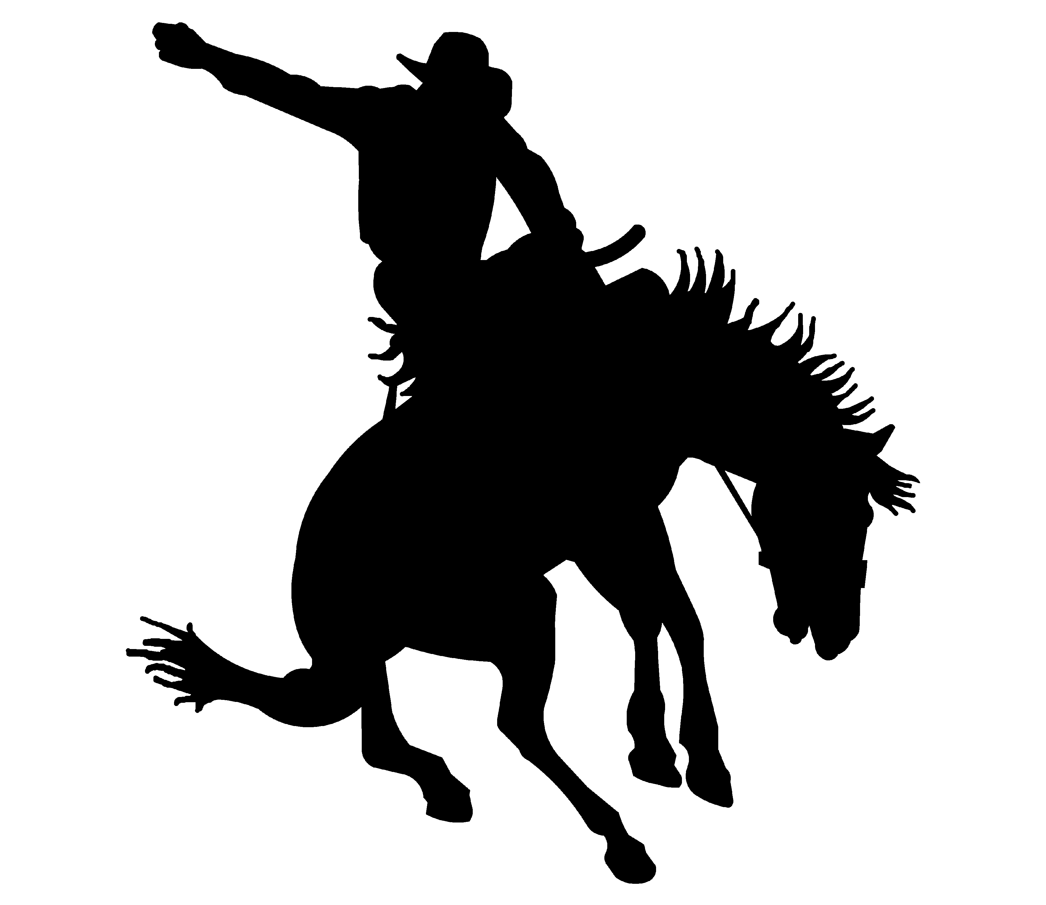 Cowboy clipart bronc riding Bronc collection Art Western clipart