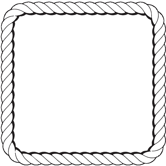 Rope clipart rope frame #11