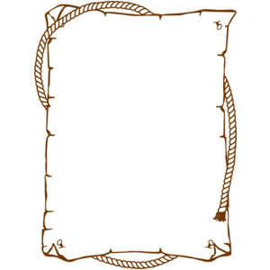 Western clipart rope frame Clip Western Rope clip art