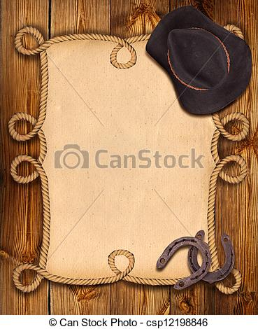Western clipart rope frame Of background rope Illustration western